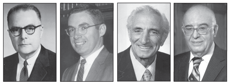 Left to Right: Edmond P. Garvey; Charles V. Ryan; Anthony M. Scibelli; Joseph J. Deliso, Sr.