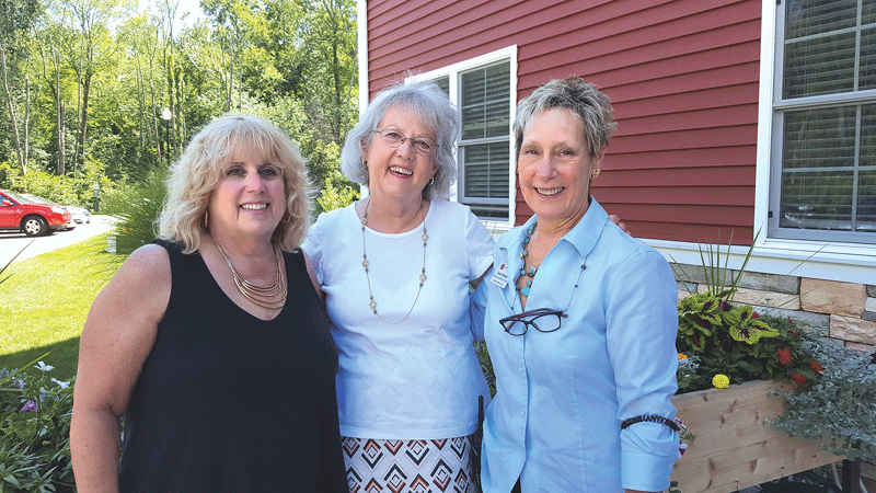 From left, Beth Cardillo, Terry Hodur, and Susan O'Donnell.