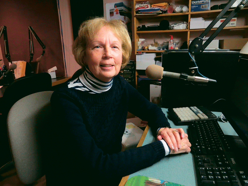 Pat Duperre, a longtime volunteer with Valley Eye Radio