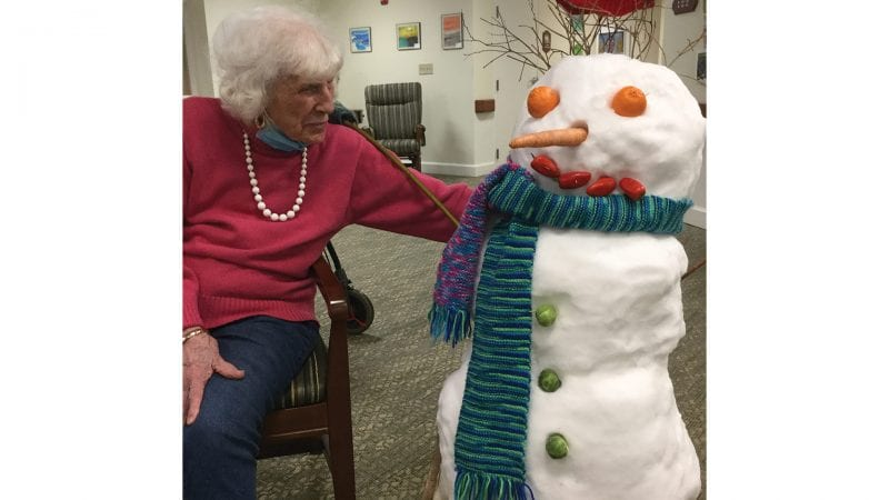 aides made a snowman